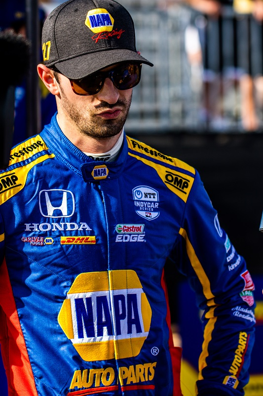 | Driver: Alexander Rossi| Team: Andretti Autosport| Number: 27| Car: Dallara DW12 UAK18| Keyword: Honda|Keyword: NAPA Auto Parts|| Photographer: Andy Clary| Event: Firestone Grand Prix of St Petersburg| Circuit: Streets of St Petersburg| Location: St Petersburg, Florida| Series: NTT IndyCar Series| Season: 2019| Country: US| Keyword: motor racing| Keyword: motorsport|Keyword: FL|Keyword: USA|Keyword: Albert Whitted Airport|Keyword: open wheel|Keyword: single seater|Keyword: road course|Keyword: street course|Keyword: street track|| Session: Qualifying|