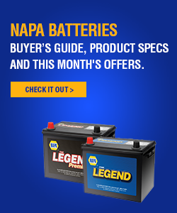 NAPA Batteries - Buyer's guide, products specs and this month's offers.