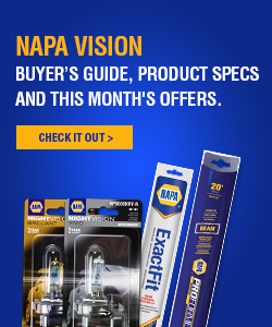NAPA Visions - buyer's guide, product specs and this month's offers.