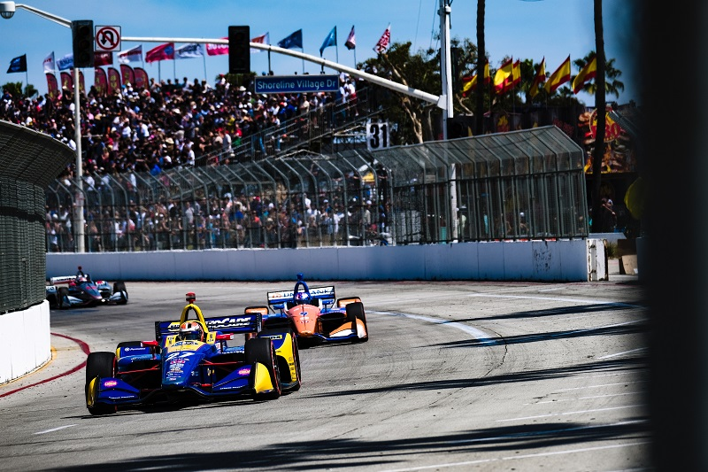 |Photographer: Jamie Sheldrick|Session: race|Event: Acura Grand Prix of Long Beach|Circuit: Streets of Long Beach|Location: Long Beach, California|Series: NTT IndyCar Series|Season: 2019|Country: US|Car: Dallara DW12 UAK18|Number: 27|Team: Andretti Autosport|Driver: Alexander Rossi|