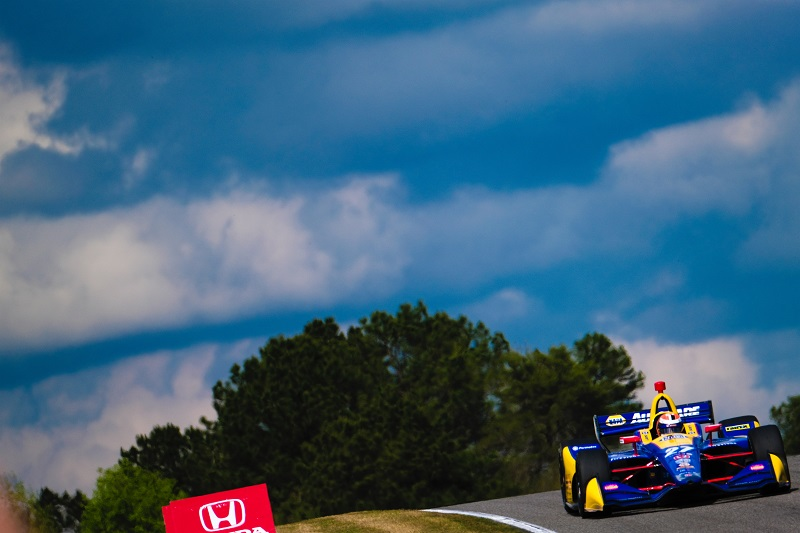 |Photographer: Jamie Sheldrick|Session: practice 2|Event: Honda Indy Grand Prix of Alabama|Circuit: Barber Motorsports Park|Location: Birmingham, Alabama|Series: NTT IndyCar Series|Season: 2019|Country: US|Car: Dallara DW12 UAK18|Number: 27|Team: Andretti Autosport|Driver: Alexander Rossi|
