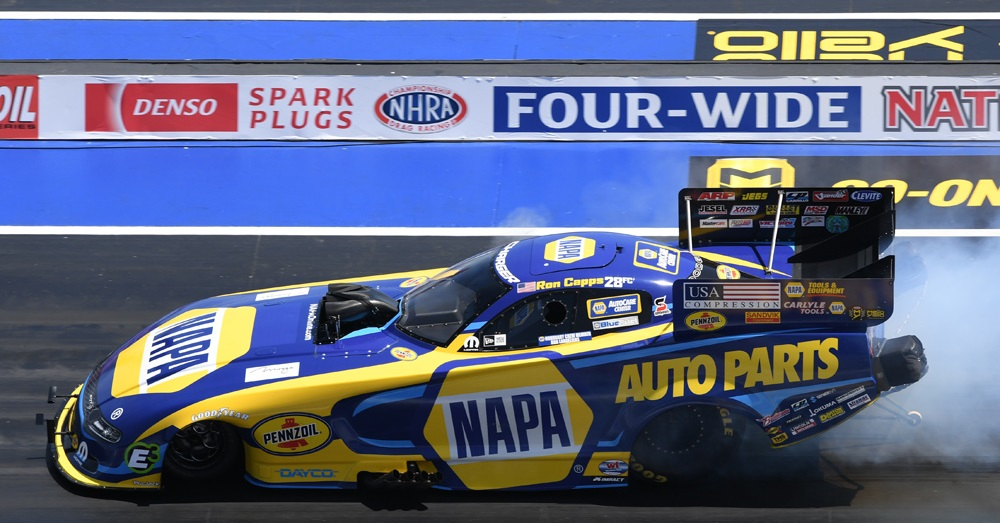 Ron Capps NAPA AUTO PARTS NHRA Funny Car Vegas 4-wide 2019 feat