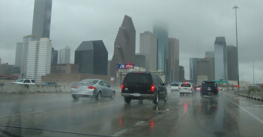 Cars driving in the rain. Driving in the rain can be difficult. Use these seven tips to be able to get through inclement weather without breaking a sweat.