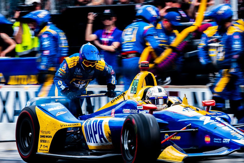 |Keyword: pitlane|Keyword: pit lane|Keyword: pits|Keyword: pitstop|Keyword: pit stop|| Driver: Alexander Rossi| Team: Andretti Autosport| Number: 27| Car: Dallara DW12 UAK18| Keyword: Honda|Keyword: NAPA Auto Parts|Photographer: Peter Mining| Event: Indianapolis 500| Circuit: Indianapolis Motor Speedway| Location: Speedway, Indiana| Series: NTT IndyCar Series| Season: 2019| Country: US| Keyword: motor racing| Keyword: motorsport|Keyword: IN|Keyword: USA|Keyword: open wheel|Keyword: single seater|Keyword: IMS|Keyword: IN|Keyword: Indy|Keyword: Indy 500|