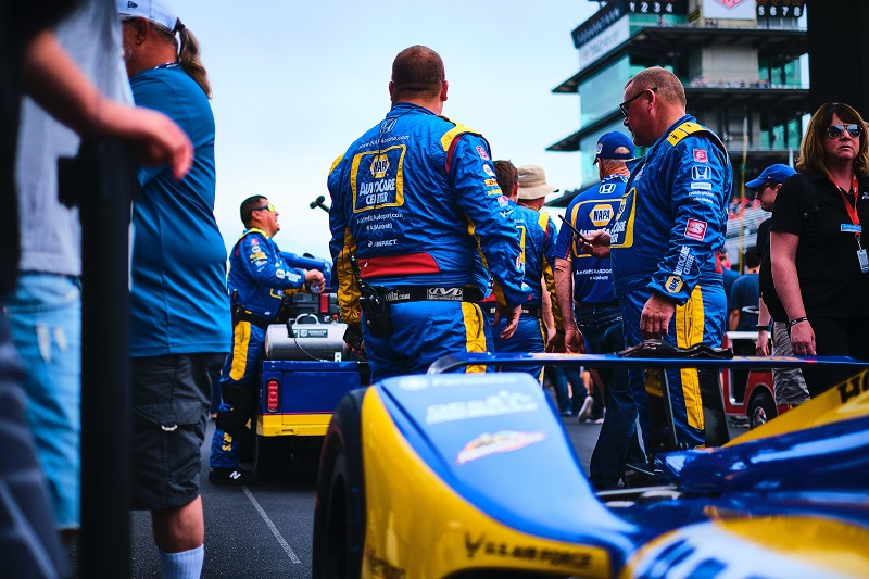 |Photographer: Jamie Sheldrick|Session: race|Event: Indianapolis 500|Circuit: Indianapolis Motor Speedway|Location: Speedway, Indiana|Series: NTT IndyCar Series|Season: 2019|Country: US|Car: Dallara DW12 UAK18|Number: 27|Team: Andretti Autosport|Driver: Alexander Rossi|