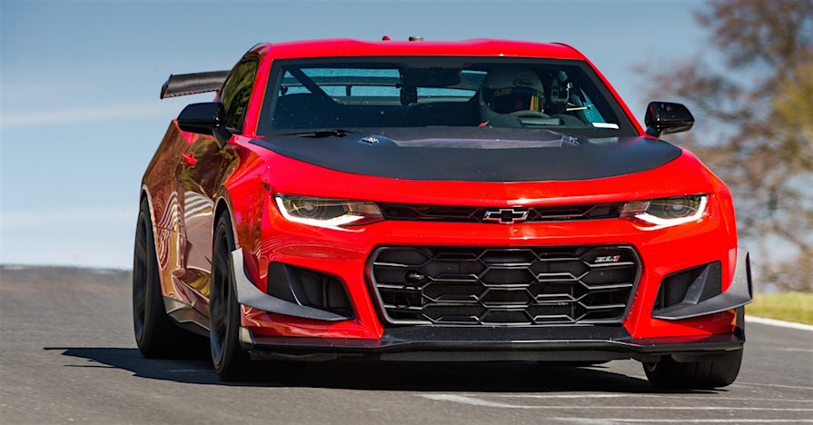 2018 Chevrolet Camaro ZL1 1LE on the track