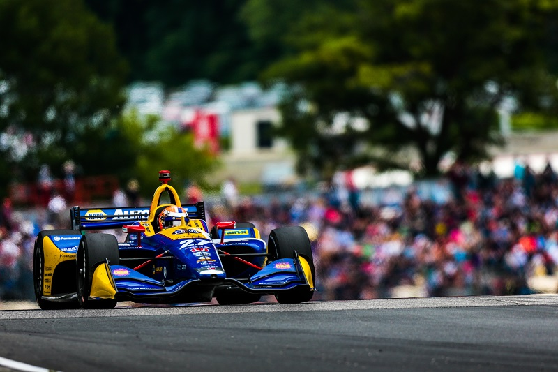 | Driver: Alexander Rossi| Team: Andretti Autosport| Number: 27| Car: Dallara DW12 UAK18| Keyword: Honda|Keyword: NAPA Auto Parts|Keyword: GESS International|Keyword: GESS RNG Biogas|Keyword: Capstone Turbine Corporation|| Photographer: Andy Clary| Event: REV Group Grand Prix| Circuit: Road America| Location: Elkhart Lake, Wisconsin| Series: NTT IndyCar Series| Season: 2019| Country: US| Keyword: motor racing| Keyword: motorsport|Keyword: TX|Keyword: USA|Keyword: open wheel|Keyword: single seater|Keyword: road course|| Session: Race|