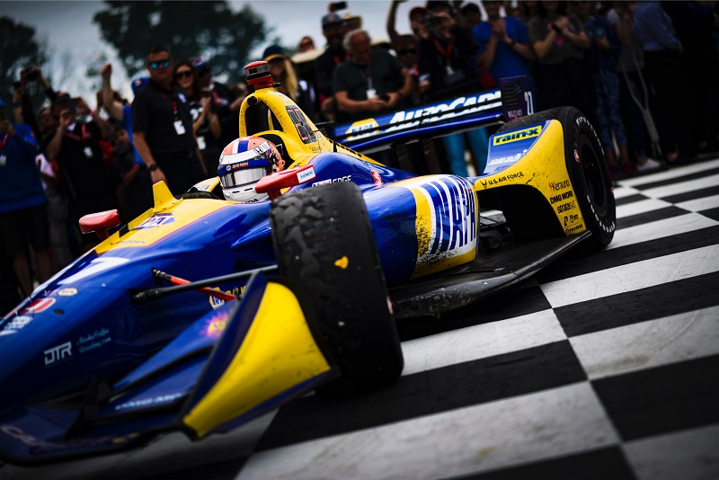 |Photographer: Jamie Sheldrick|Session: podium|Event: REV Group Grand Prix|Circuit: Road America|Location: Elkhart Lake, Wisconsin|Series: NTT IndyCar Series|Season: 2019|Country: US|Car: Dallara DW12 UAK18|Number: 27|Team: Andretti Autosport|Driver: Alexander Rossi|