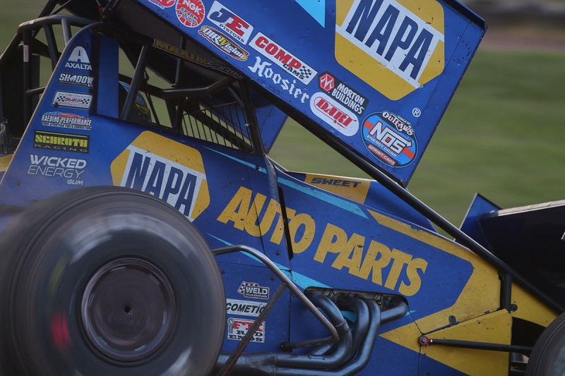 Brad Sweet NAPA AUTO PARTS 49 sprint car team Beaver Dam