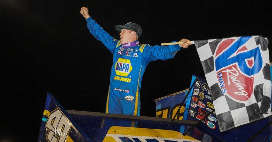 Brad Sweet NAPA AUTO PARTS sprint car Knoxville Raceway winner