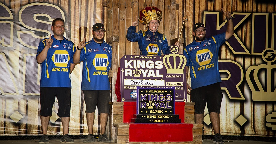Brad Sweet 49 NAPA AUTO PARTS Outlaws Kings Royal 2019 Eldora win