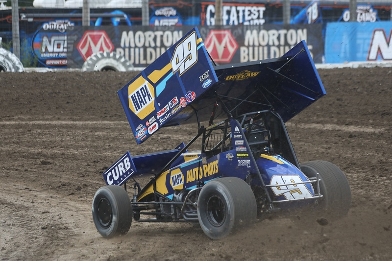 Brad Sweet World of Outlaws sprint car NAPA AUTO PARTS KKR Wilmot