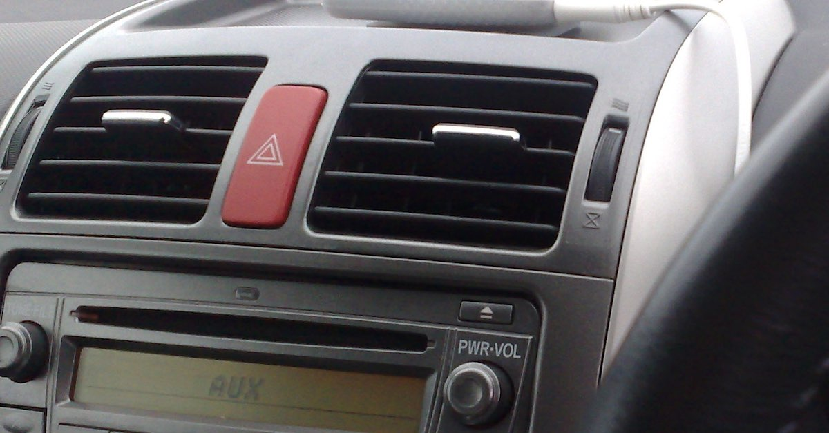 Air vents in a car. Cleaning your car's air vents is a crucial part of completing a thorough interior cleaning.