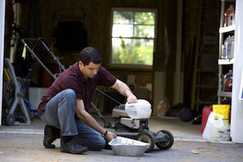 Changing oil on a lawn mower. They may have tiny engines, but lawn mowers need oil too. Here's everything you need to know about changing your lawn mower's oil.