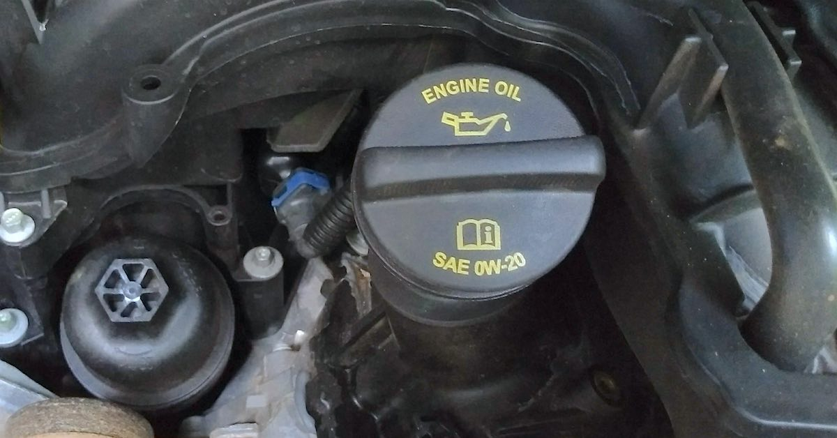 An engine oil cap. An oil tech can help you matched OEM specs to the right oil for your vehicle.