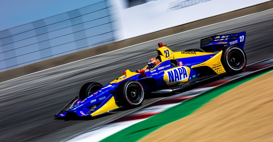 | Driver: Alexander Rossi| Team: Andretti Autosport| Number: 27| Car: Dallara DW12 UAK18| Keyword: Honda|Keyword: NAPA Auto Parts|Keyword: GESS International|Keyword: GESS RNG Biogas|Keyword: Capstone Turbine Corporation|| Photographer: Andy Clary| Event: Firestone Grand Prix of Monterey| Circuit: WeatherTech Raceway Laguna Seca| Location: Monterey, California| Series: NTT IndyCar Series| Season: 2019| Country: US| Keyword: motor racing| Keyword: motorsport|Keyword: open wheel|Keyword: single seater|Keyword: CA|Keyword: road course|Keyword: Season Finale|| Session: P2|Keyword: practice|Keyword: practice 2|Keyword: FP2|