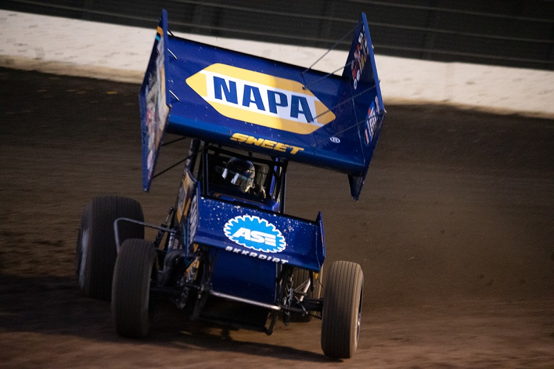 Brad Sweet NAPA AUTO PARTS 29 Outlaws sprint car 2019 Calistoga
