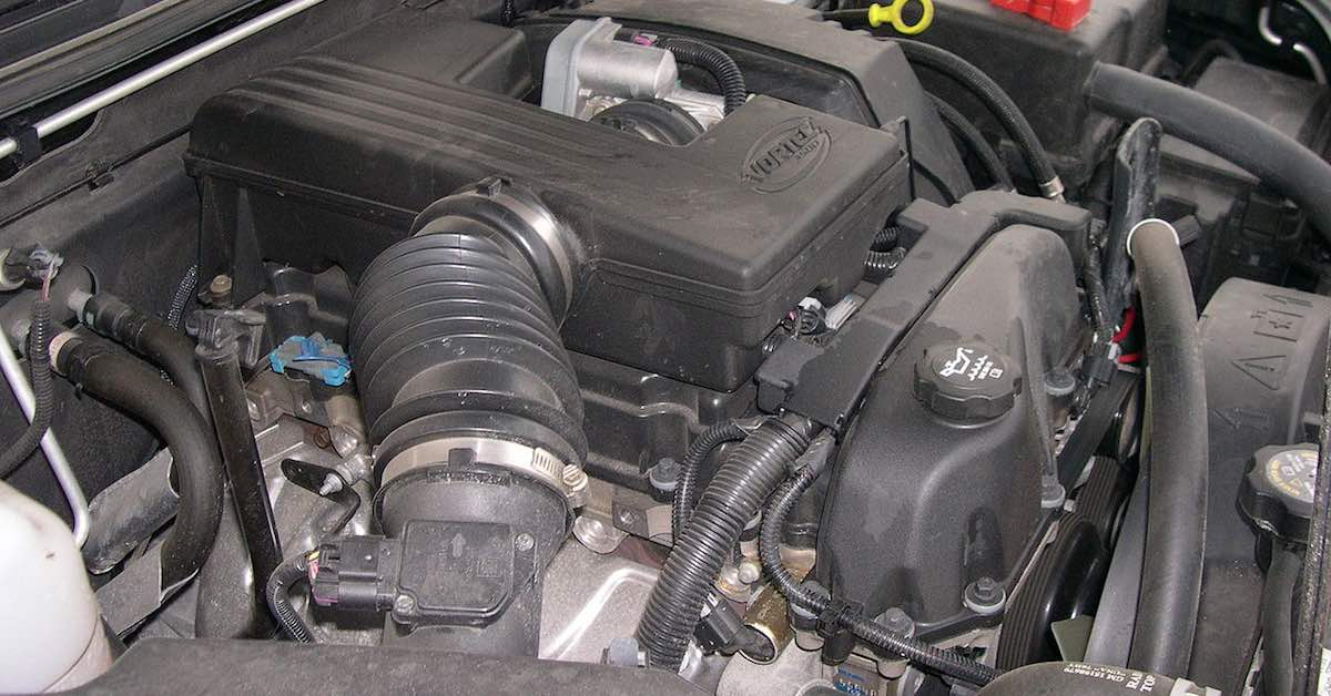 An engine with common automotive sensors