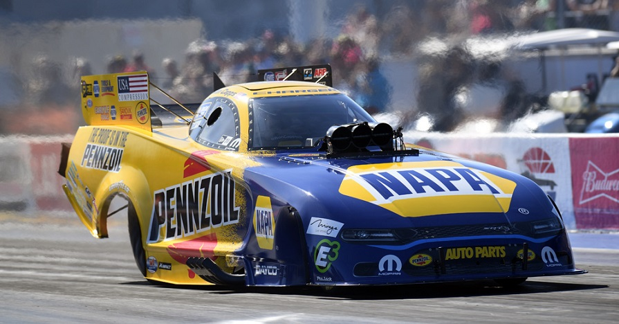 Ron Capps Goes Out Early in Vegas