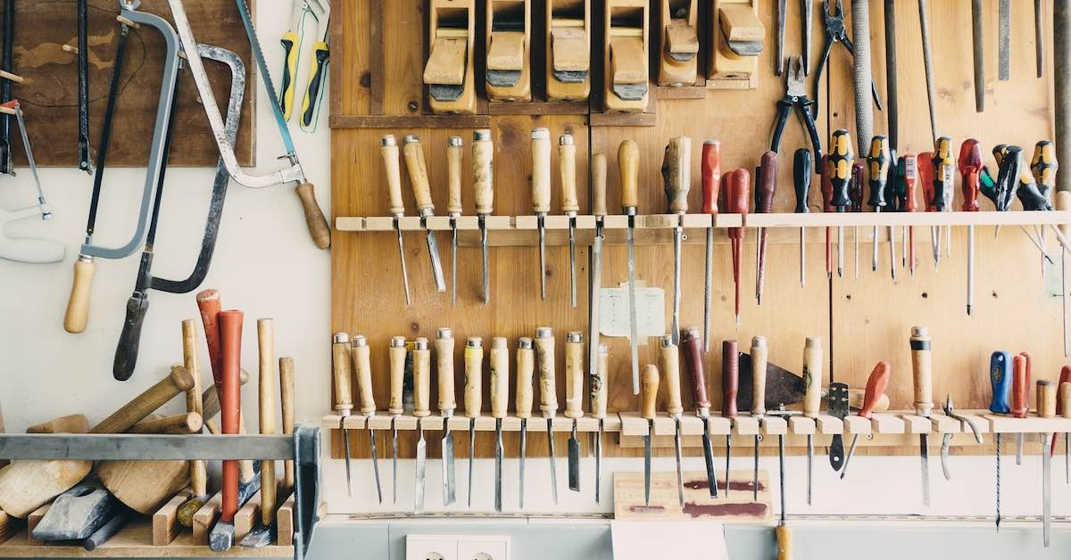 Organized tool display. Your garage should show off your car, not cover it with junk.