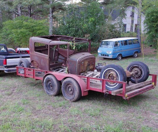 bringing home a hot rod in pieces