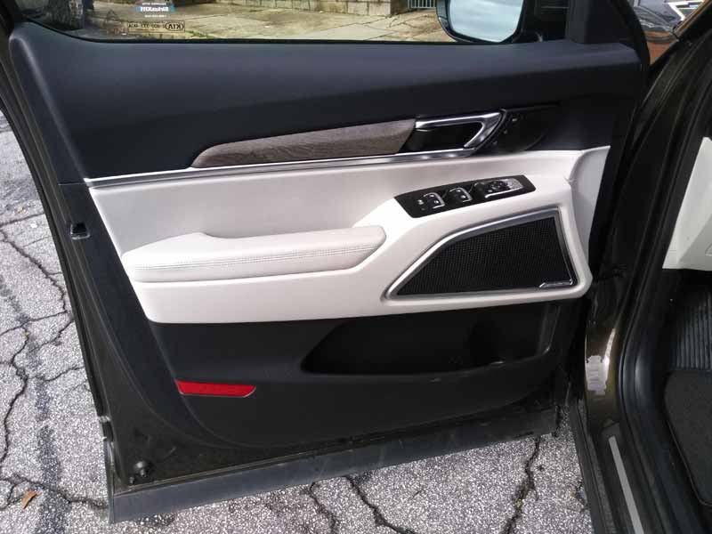 Kia Telluride interior front door panel