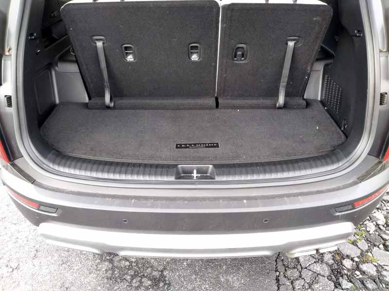 Kia Telluride rear storage with third row seats up