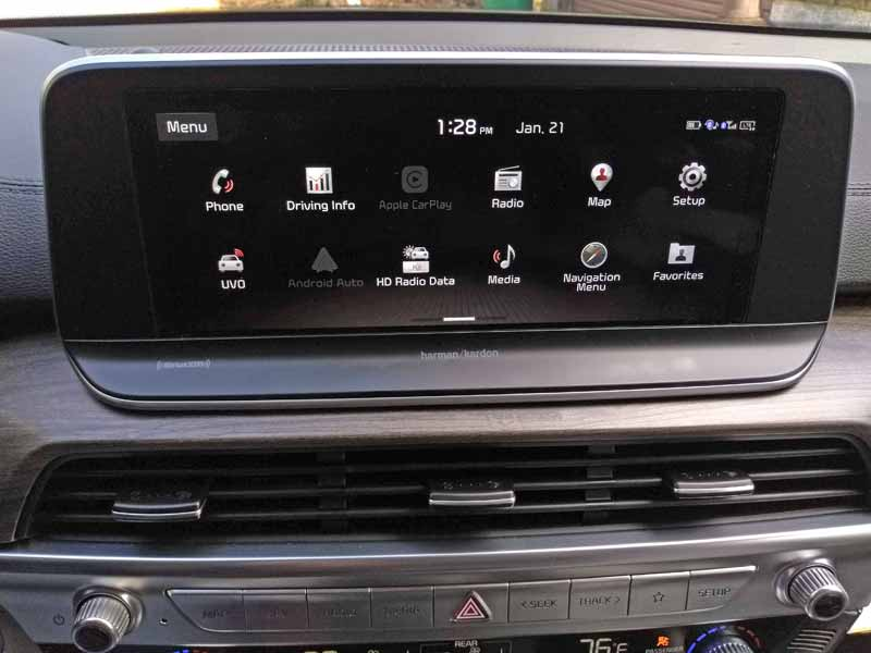Kia Telluride dash touch screen