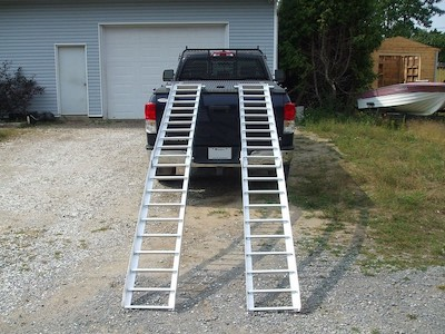 Ramps for a pickup truck