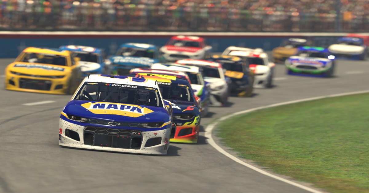 Chase Elliott iRacing Texas 2020 NAPA 9 eNASCAR Pro Invitational Series feat