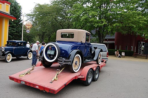 1928 Chevy on trailer