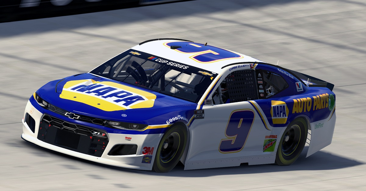 Elliott Finishes 30th at Virtual Bristol Motor Speedway