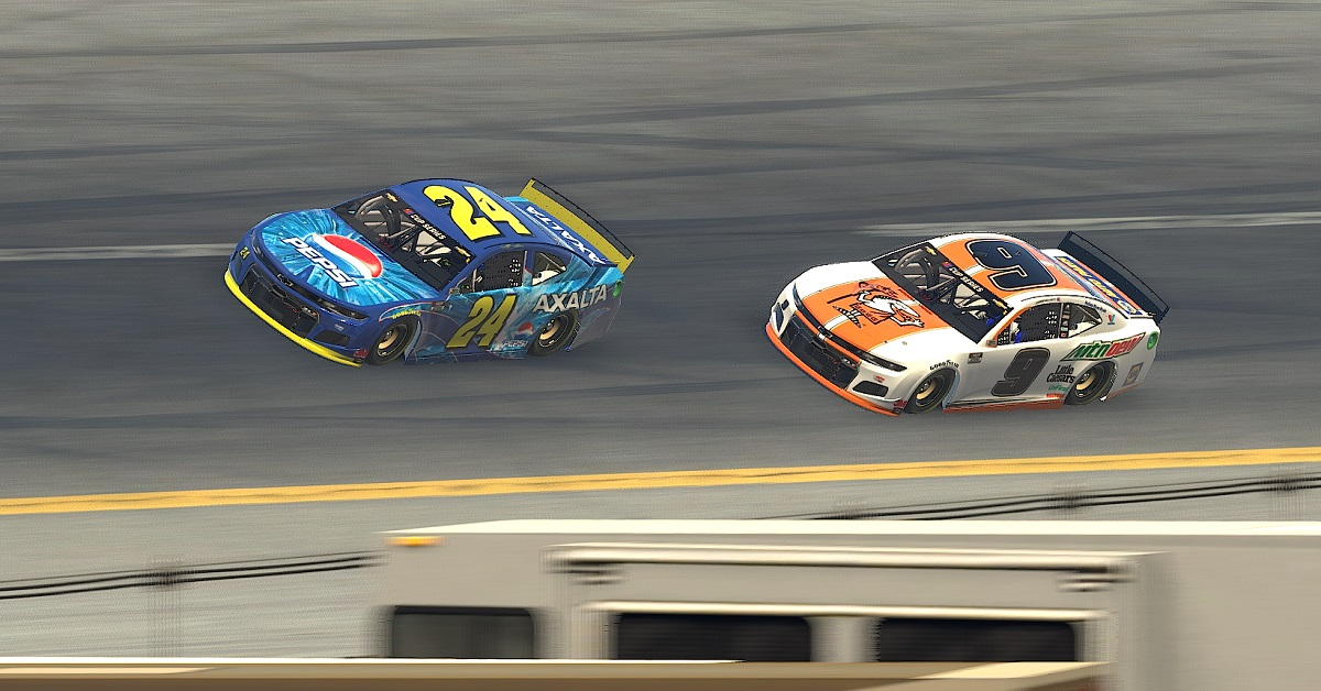 Chase Elliott Talladega iRacing eNASCAR Jeff Gordon