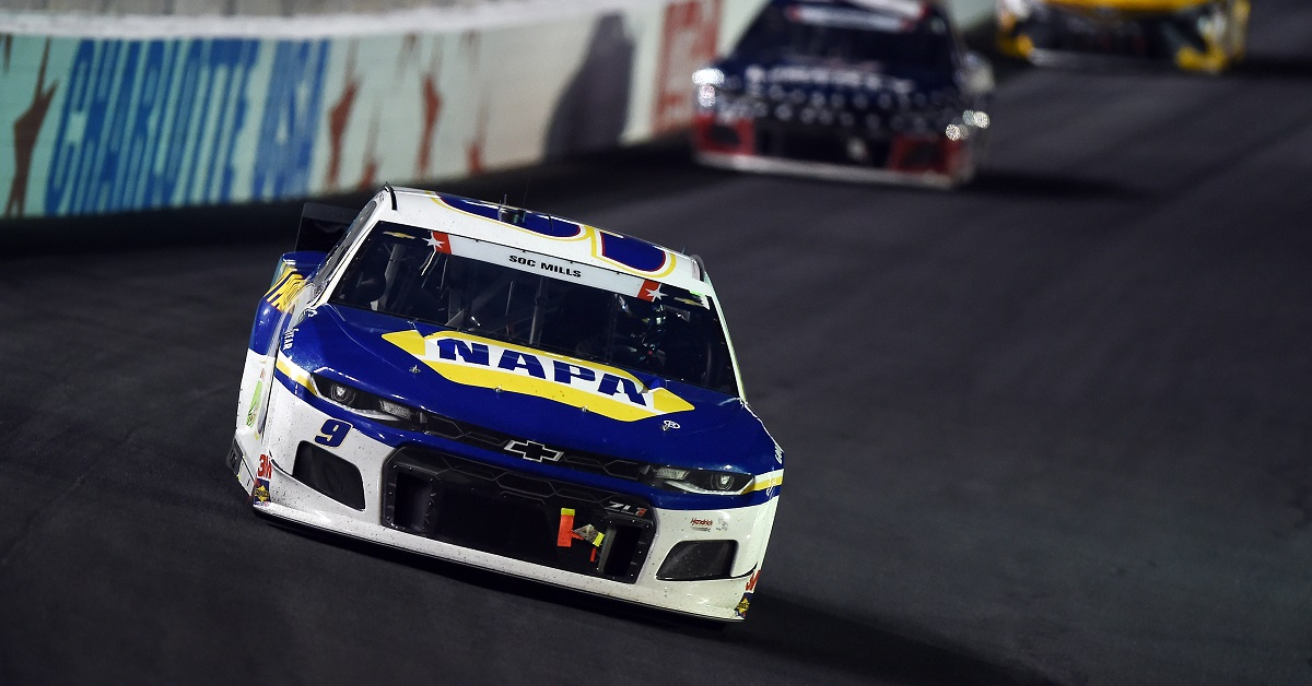 CONCORD, NORTH CAROLINA - MAY 24: Chase Elliott, driver of the #9 NAPA Auto Parts Chevrolet, drives during the NASCAR Cup Series Coca-Cola 600 at Charlotte Motor Speedway on May 24, 2020 in Concord, North Carolina. (Photo by Jared C. Tilton/Getty Images)