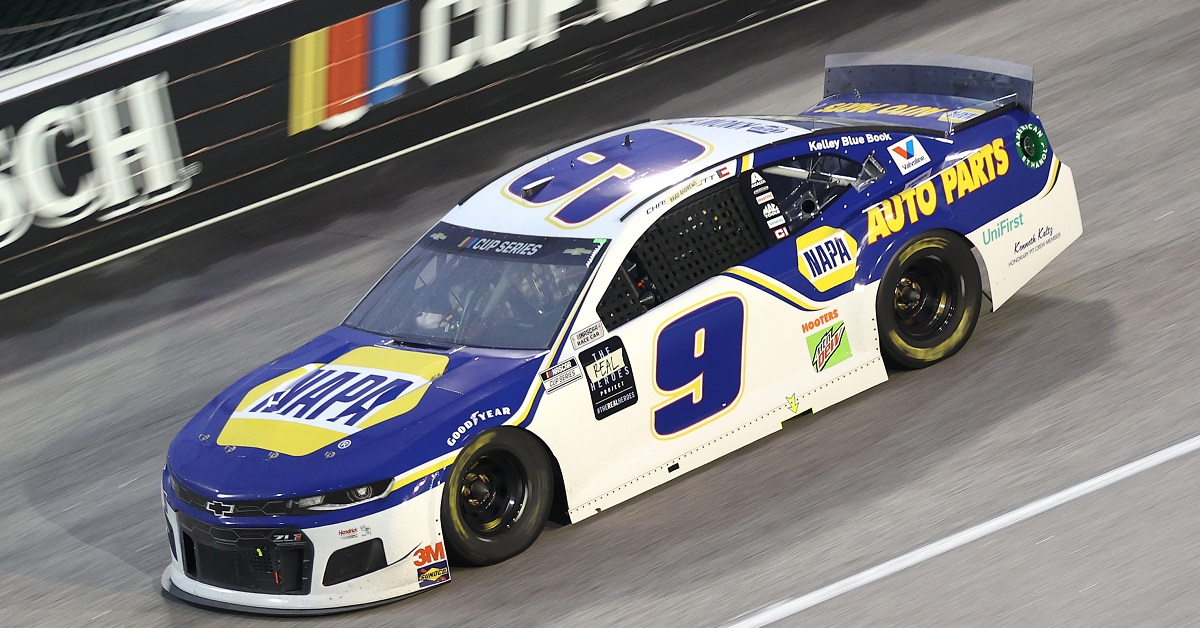 DARLINGTON, SOUTH CAROLINA - MAY 20: Chase Elliott, driver of the #9 NAPA Auto Parts Chevrolet, drives during the NASCAR Cup Series Toyota 500 at Darlington Raceway on May 20, 2020 in Darlington, South Carolina. (Photo by Chris Graythen/Getty Images)
