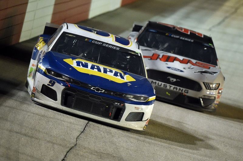 DARLINGTON, SOUTH CAROLINA - MAY 20: Chase Elliott, driver of the #9 NAPA Auto Parts Chevrolet, drives during the NASCAR Cup Series Toyota 500 at Darlington Raceway on May 20, 2020 in Darlington, South Carolina. (Photo by Jared C. Tilton/Getty Images)