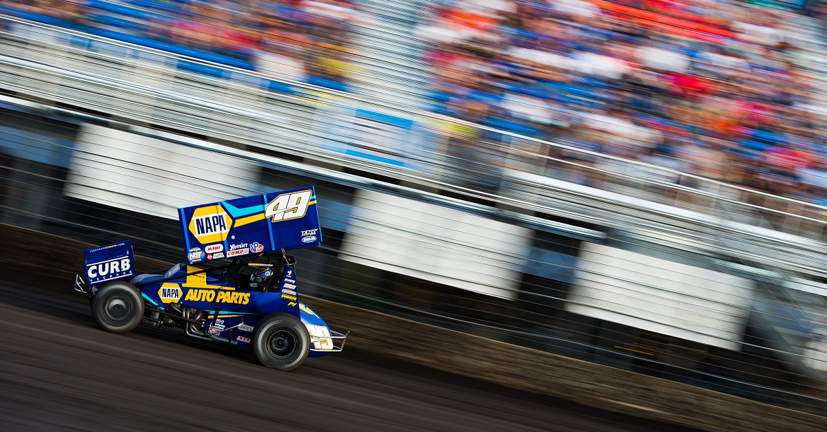 Brad Sweet 2020 Jackson Nationals World of Outlaws NAPA AUTO PARTS 49