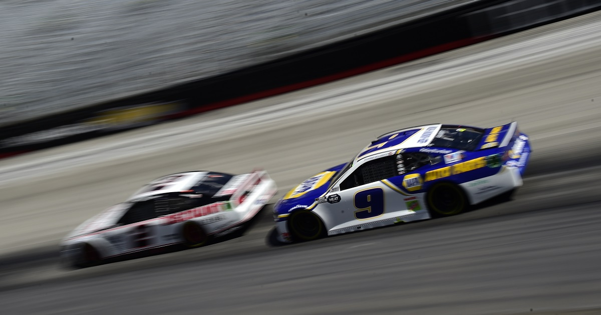 BRISTOL, TENNESSEE - MAY 31: Chase Elliott, driver of the #9 NAPA Auto Parts Chevrolet, drives during the NASCAR Cup Series Food City presents the Supermarket Heroes 500 at Bristol Motor Speedway on May 31, 2020 in Bristol, Tennessee. (Photo by Jared C. Tilton/Getty Images)