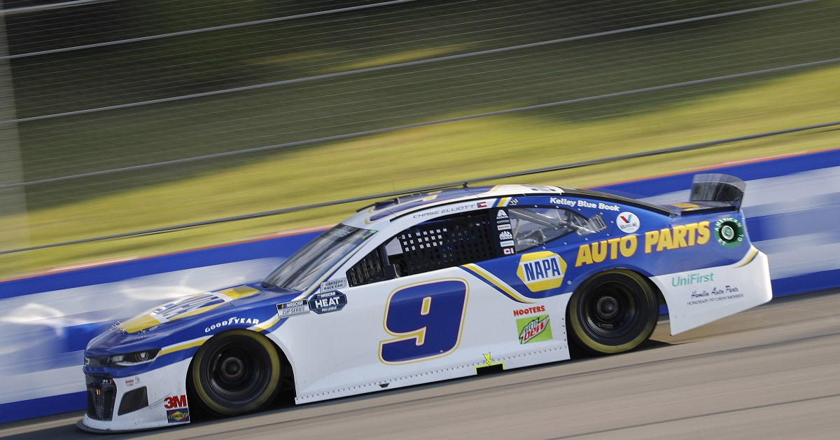 June 28, 2020: #9: Chase Elliott, Hendrick Motorsports, Chevrolet Camaro NAPA Auto Parts the Pocono 350 at Pocono Raceway in Long Pond, PA. (HHP/Andrew Coppley)