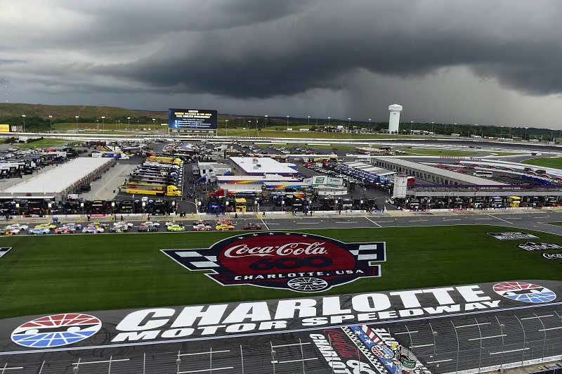 CONCORD, NORTH CAROLINA - MAY 28: A general view during the NASCAR Cup Series Alsco Uniforms 500 at Charlotte Motor Speedway on May 28, 2020 in Concord, North Carolina. (Photo by Jared C. Tilton/Getty Images)