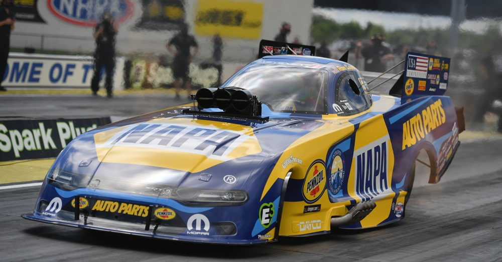 Ron Capps NHRA return to racing Indianapolis 2020 NAPA AUTO PARTS fc