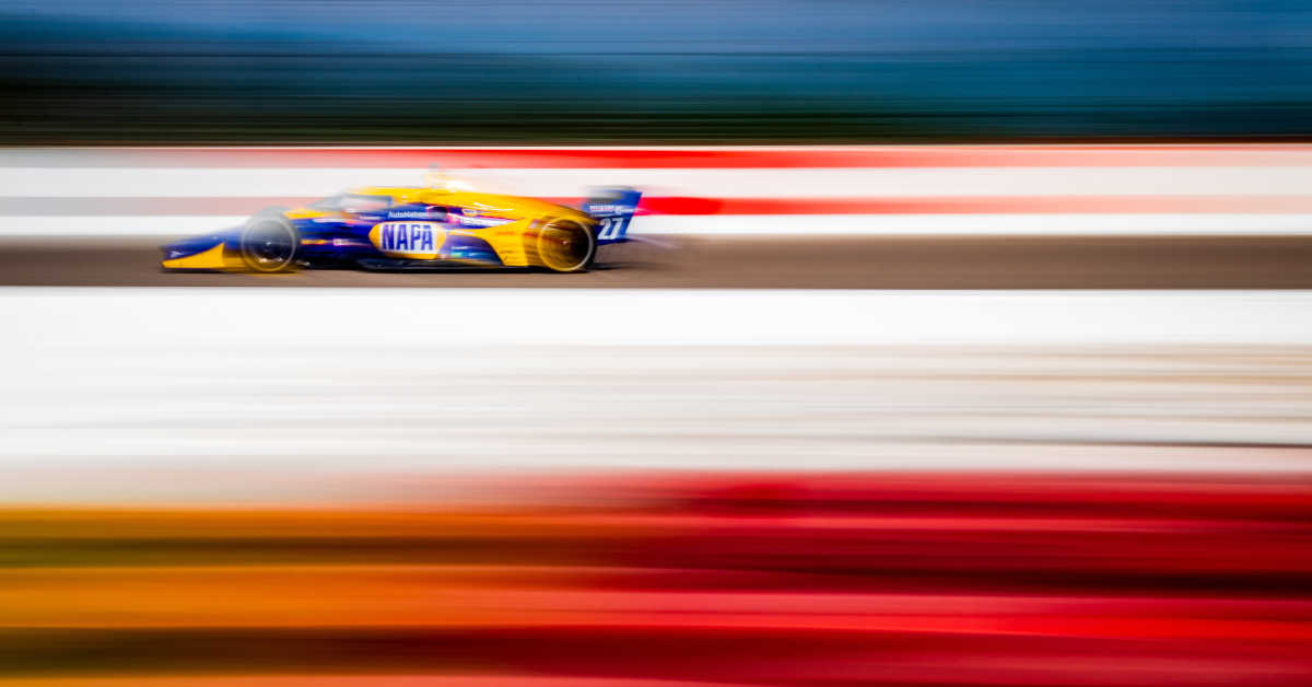 |Photographer: Kenneth Midgett|Event: Bommarito Automotive Group 500|Circuit: World Wide Technology Raceway|Location: Madison, Illinois|Series: NTT IndyCar Series|Country: United States|Session: race|Team: Andretti Autosport|Car: Dallara DW12 UAK18|Car: Honda|Number: 27|Driver: Alexander Rossi|