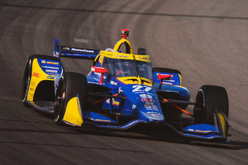 |Photographer: Taylor Robbins|Event: Bommarito Automotive Group 500|Circuit: World Wide Technology Raceway|Location: Madison, Illinois|Series: NTT IndyCar Series|Country: United States|Team: Andretti Autosport|Car: Dallara DW12 UAK18|Car: Honda|Number: 27|Driver: Alexander Rossi|