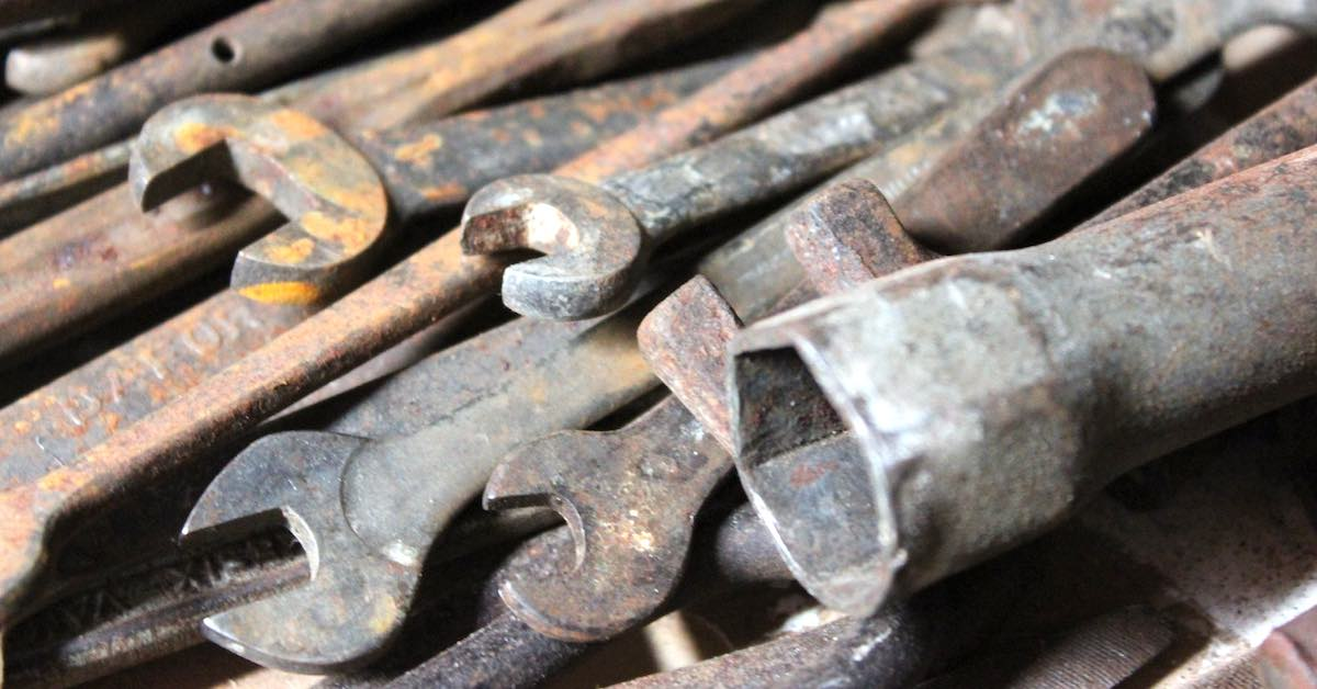 Rusted wrenches