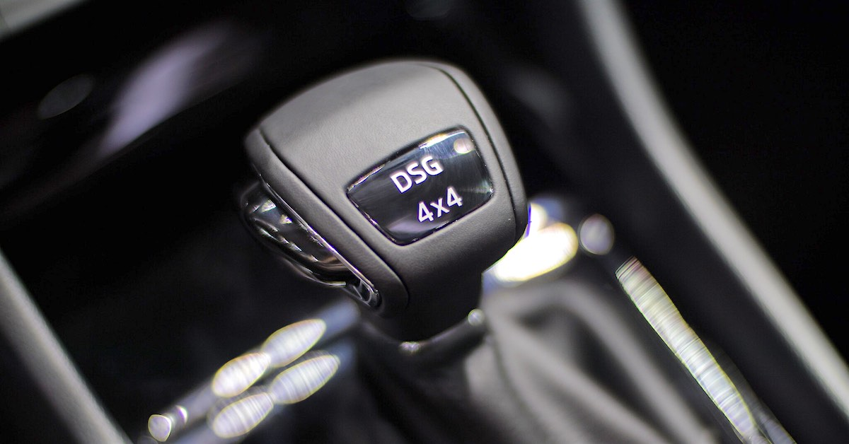 A dual clutch transmission shifter