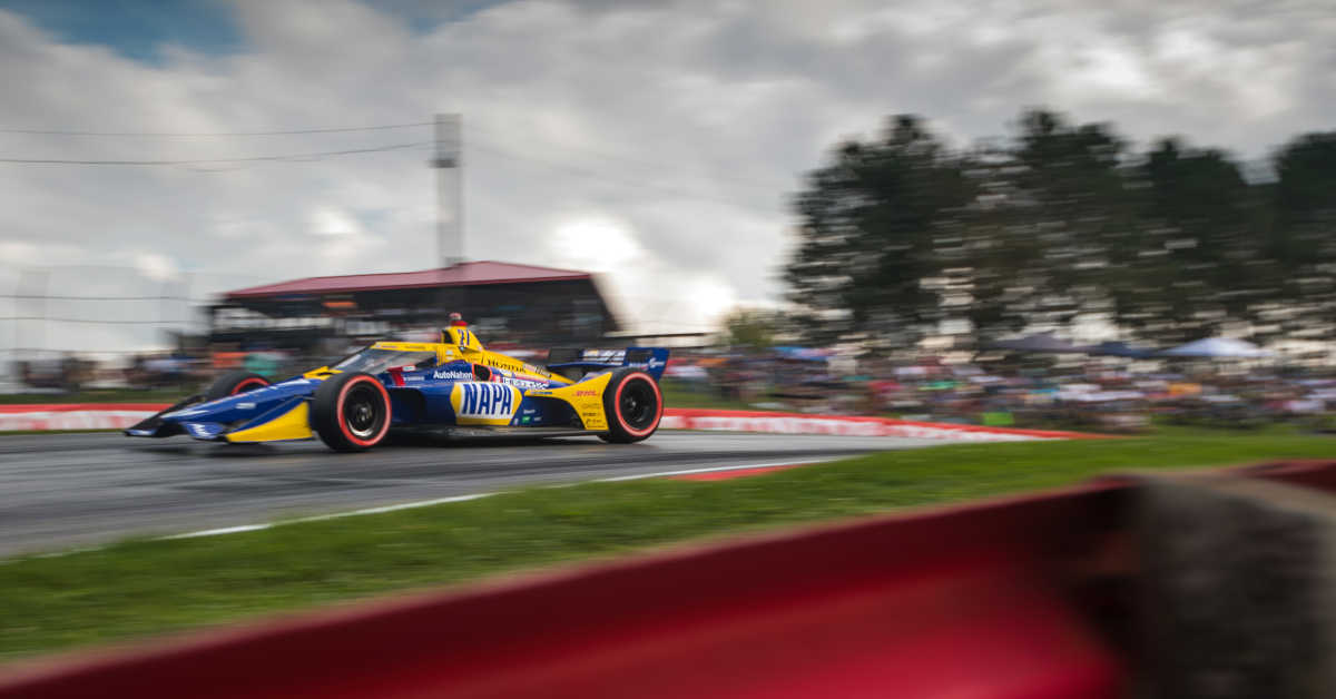 |Photographer: Al Arena|Event: Honda Indy 200 at Mid-Ohio|Circuit: Mid-Ohio Sports Car Course|Location: Lexington, Ohio|Series: NTT IndyCar Series|Country: United States|Session: race|Season: 2020|Team: Andretti Autosport|Car: Dallara DW12 UAK18|Car: Honda|Number: 27|Driver: Alexander Rossi|