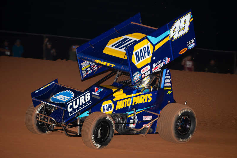 Brad Sweet NAPA AUTO PARTS 49 Outlaws Lawton Devils Bowl 2020