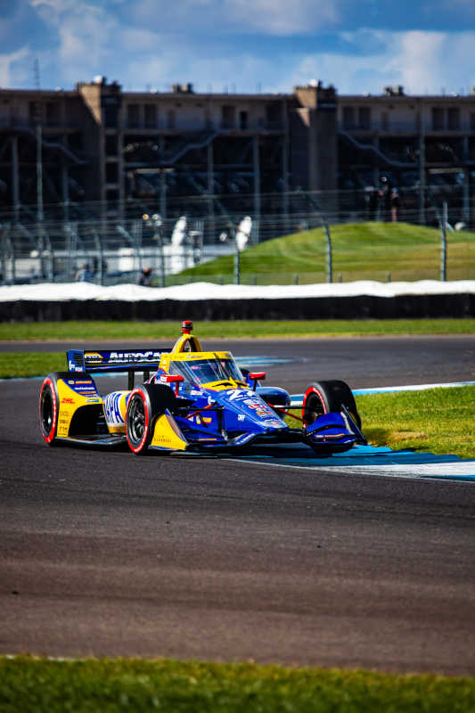 |Photographer: Kenneth Midgett|Event: INDYCAR Harvest GP Race 1|Circuit: Indianapolis Motor Speedway|Location: Speedway, Indiana|Series: NTT IndyCar Series|Country: United States|Session: FP1|Season: 2020|Team: Andretti Autosport|Car: Dallara DW12 UAK18|Car: Honda|Number: 27|Driver: Alexander Rossi|