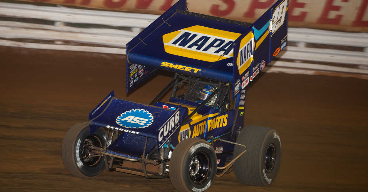Brad Sweet NAPA AUTO PARTS 49 sprint car Williams Grove 2020