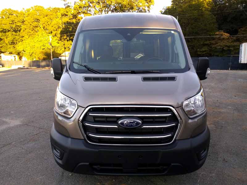 2020 Ford Transit front view.